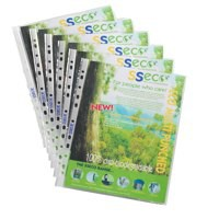 Image for Stewart Superior ECO Biodegradable Punched Pocket A4 80 micron Pack of 50 PP80