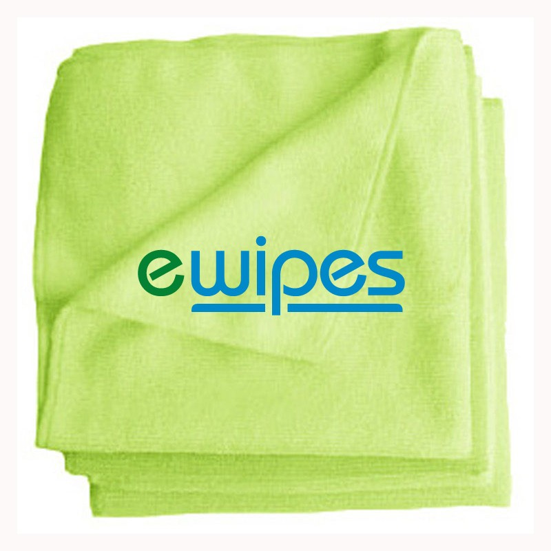 eWipe Microfibre Cloths - Green Pk 10