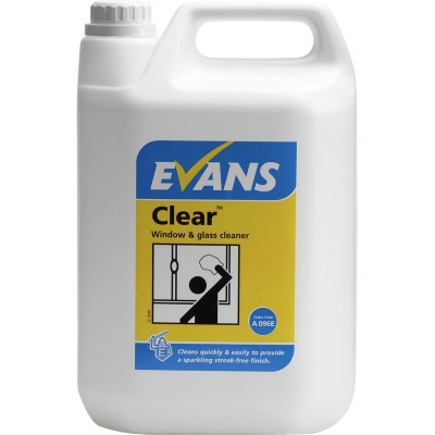 CLEAR Window, Glass, Mirror and Stainless Steel Cleaner 5 Litre