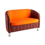 2 Seater Tub Chair: Choice of Fabrics
