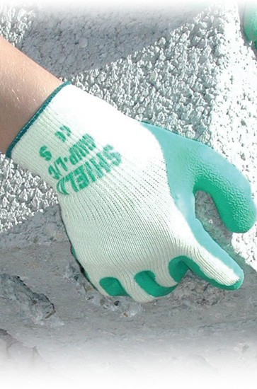 Rubber Cotton Coated Glove Size 9