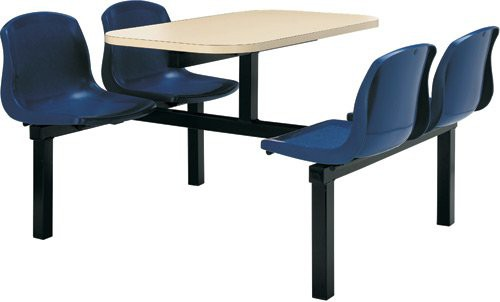 CU20 4 Seater Modular Table/Chairs Double Entry