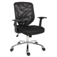Image for Nova Mesh Chair Fixed Arms Black