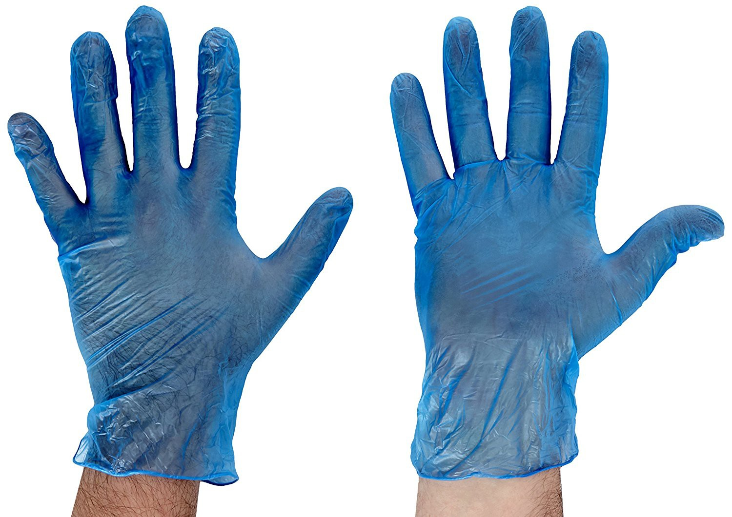 Vinyl Gloves Powder Free Medium Blue