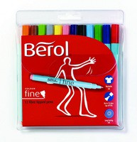 Berol Colourfine Pen Black Water Based Ink CF01 S0376300