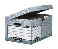 Fellowes R-Kive System Fliptop Storage Box Grey 01815