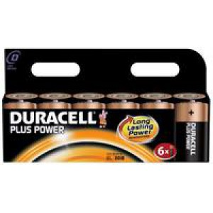 Duracell Plus Battery D Pack of 6 81275448 (41613X)