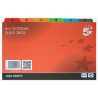 Image for 5 Star Guide Cards A-Z 203x127 M/Col