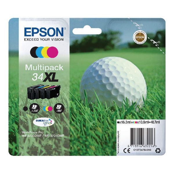 Epson 4 Colour 34XL DURABrite Ink
