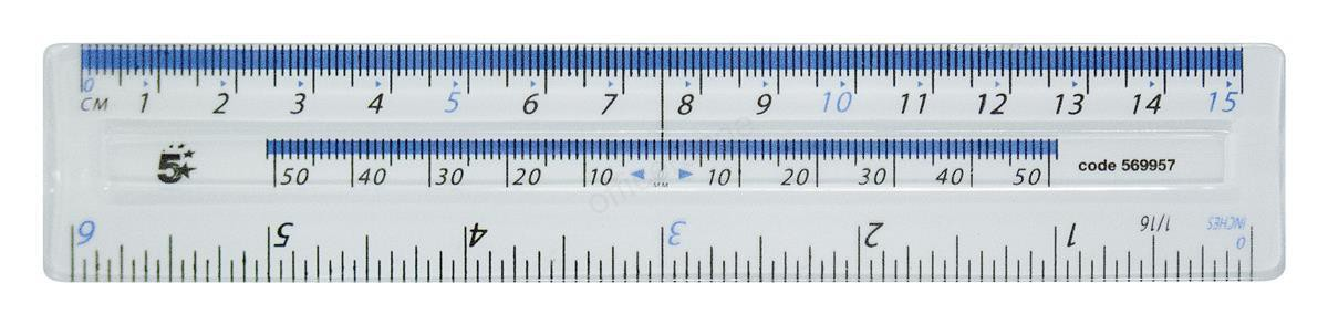 5 Star Office 150mm Clear Plastic Rule