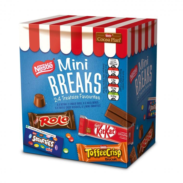 Nestle Mini Breaks Chocolates 24 Treatsize Favourites - Offer Price