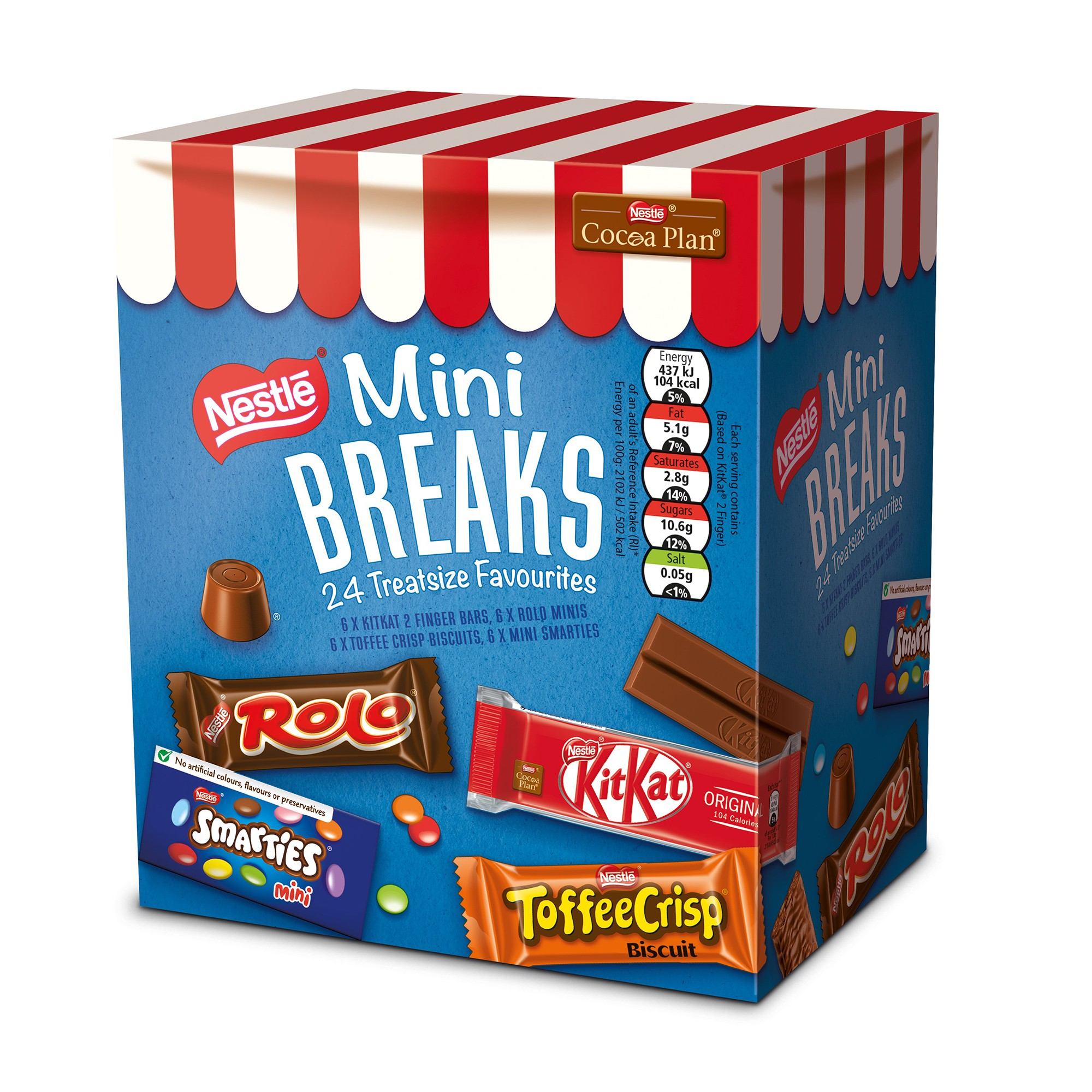 Nestle Mini Breaks Mixed Assorted Ref 12369978 [Case 10 x 24] [Price Offer]