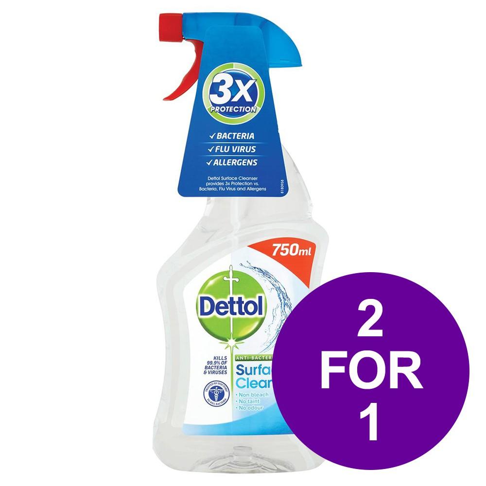Dettol Surface Cleanser Spray 750ml (BOGOF) June Deal 2019