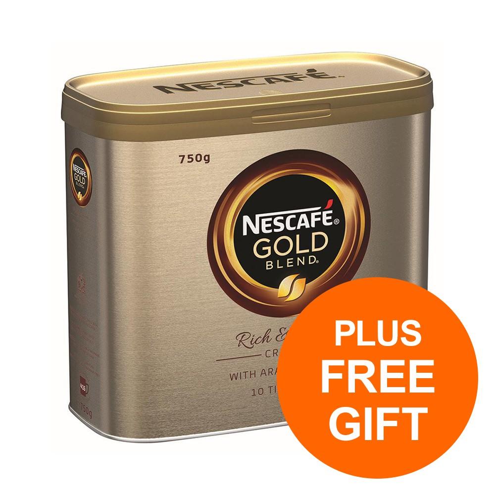 Nescafe Gold Blend Instant Coffee Granules Tin 750g Ref 12339209 [Pack 2] [Plus 3x Randoms] Jul-Sept 19 BPAUG19