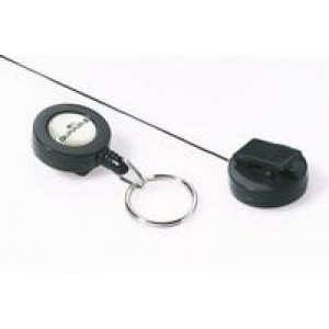 Durable Badge Reel Keyring Charcoal Pack of 10 8222/58