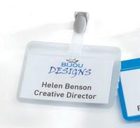 Durable Name Badge 54x90mm Self-Laminating Clear Pack of 25 8149/19