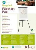 *Bi-Office Earth-It Recycled Flipchart Pads A1 Plain 40 Sheets 55gsm FL0111801