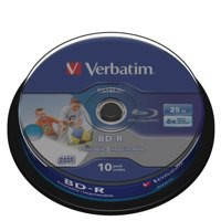 Image for Verbatim Blu-ray 25GB Inkjet Printable BD-R Discs (Jewel Case Pk 10) 43804