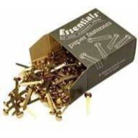 Image for 40mm Brass Pointed Paper Fastener Pk200