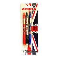 Image for Zebra Z-Grip Ballpoint Pen Union Jack Pack of 3 Assorted 02231